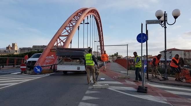 Lavori Ponte Viveri Albenga