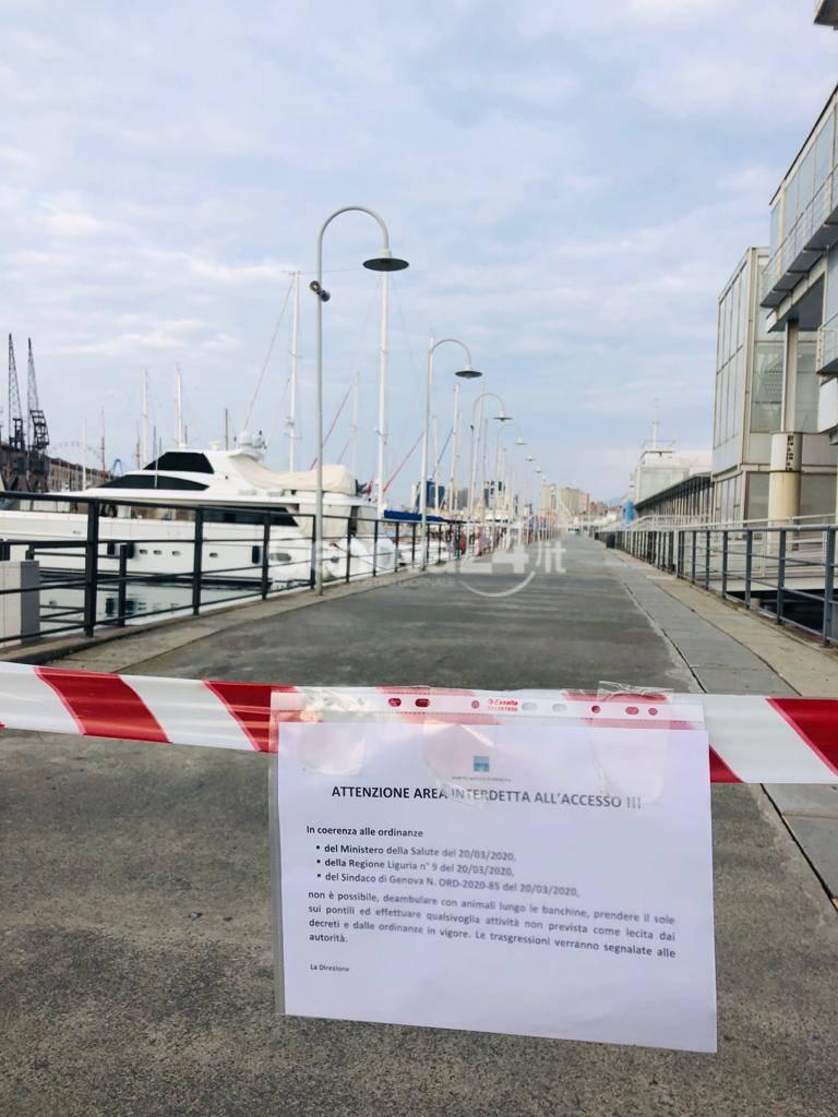 Genova si chiude in casa