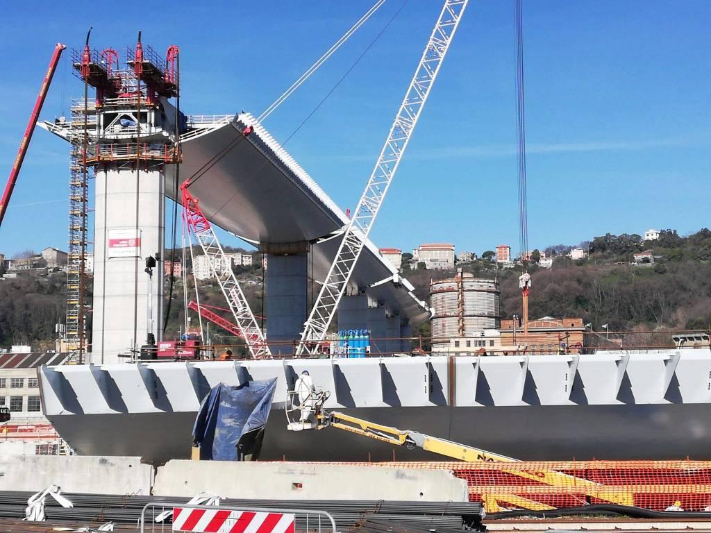 Lavorazioni nuovo ponte 16 marzo