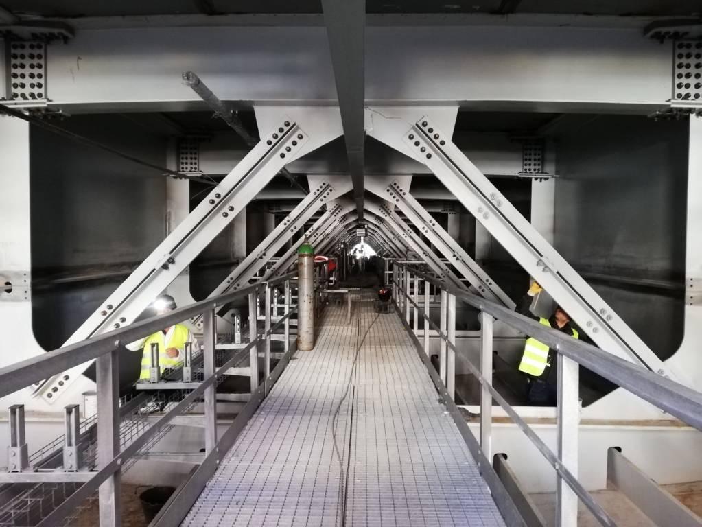 Nuovo ponte, nelle viscere del maxi impalcato che scavalcherà il Polcevera