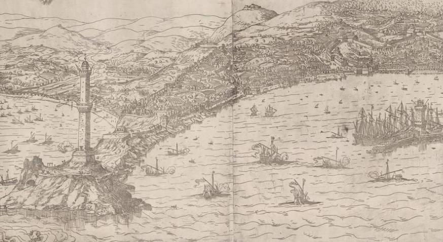 panorama cartina storica genova