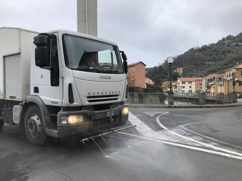 Sanificazione strade Chiavari