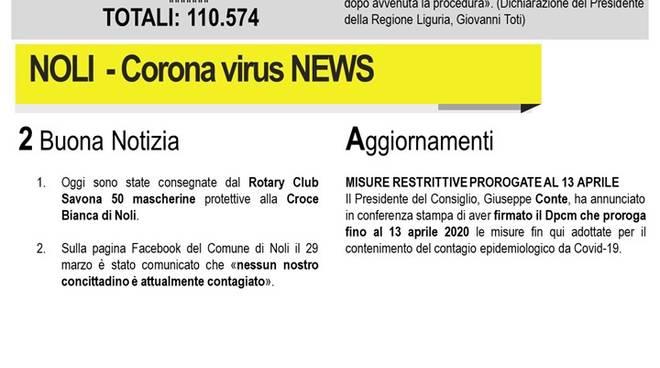bollettino noli coronavirus