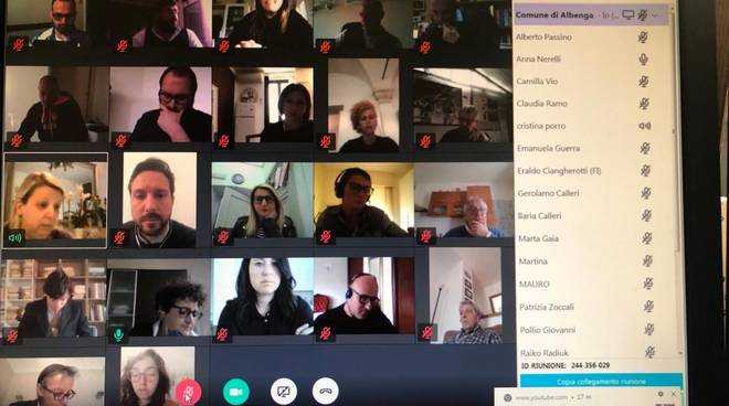 Consiglio comunale Albenga videoconferenza