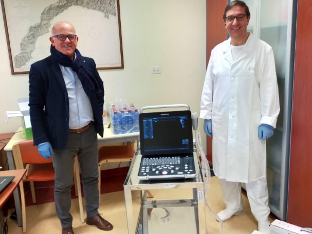 ecografo portatile ospedale albenga