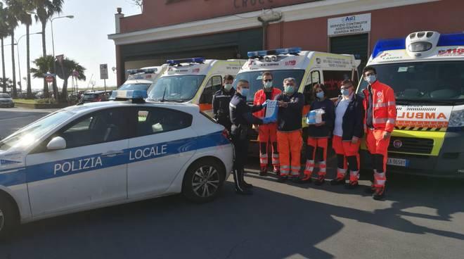 Croce Bianca Albenga polizia locale