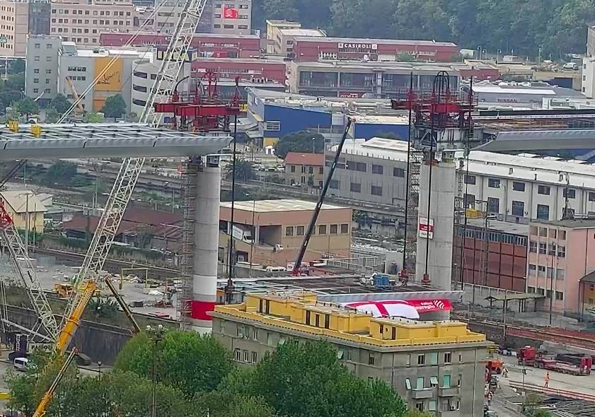 Genova rialza la testa: il nuovo ponte ultimato entro la prossima settimana