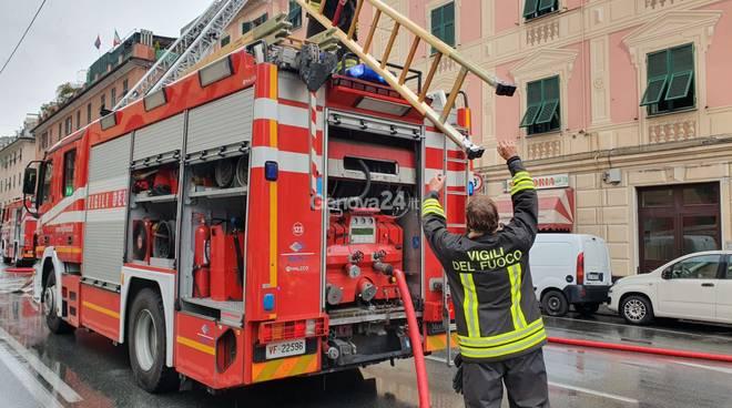 incendio via Fereggiano