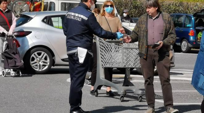 Polizia locale Andora Coronavirus spesa