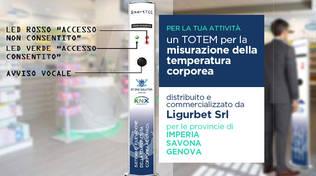 totem misurazione temperatura