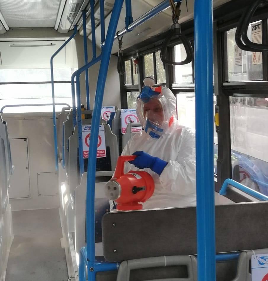 atp sanificazioni autobus