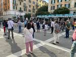 In piazza Sisto il flash-mob di discoteche e sale da ballo