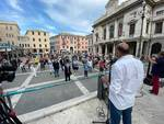 In piazza Sisto il flash-mob di discoteche e sale da ballo