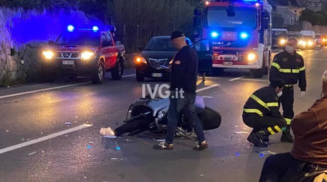 incidente aurelia moto Borgio sera notte