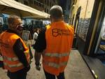Prima serata di movida in centro storico dopo il lockdown, polizia locale e steward anti assembramento