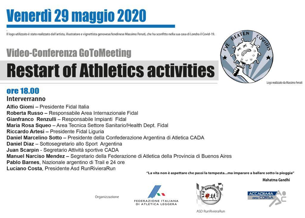 Restart of Athletics activities
