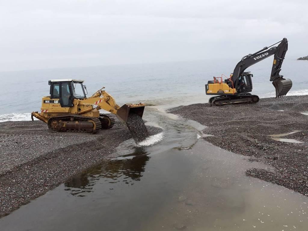 riprofilatura spiaggia sturla aster