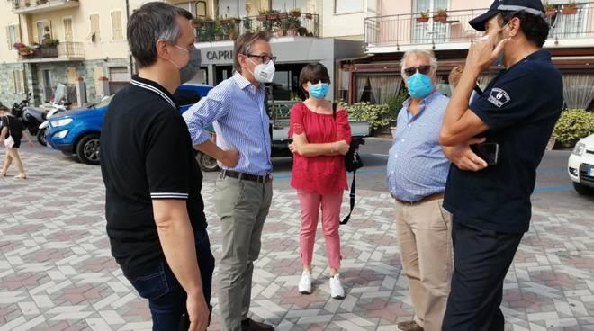 Sopralluogo Albenga sindaco coronavirus
