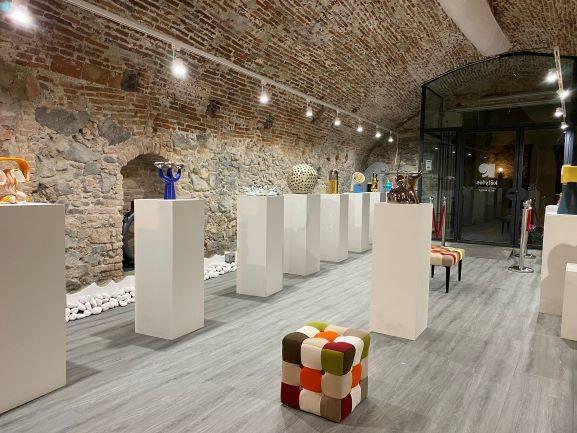 "Albissola Marina ""Volumetrico"" mostra design ceramico Manuz"