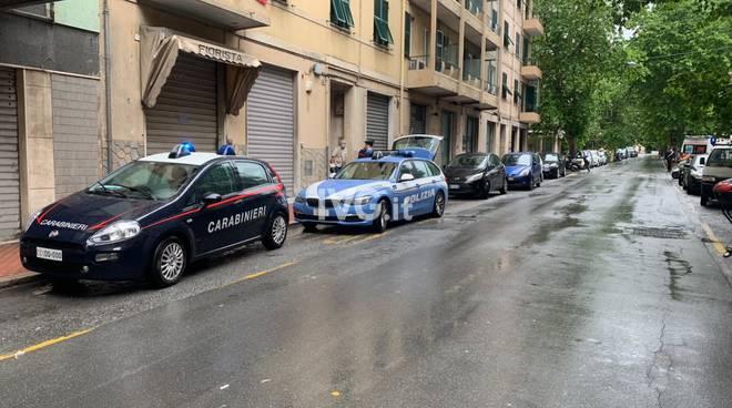 Carabinieri Polizia Savona via Crispi