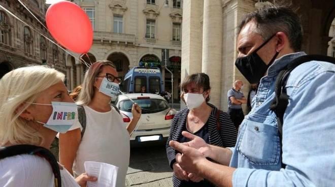 Genova protesta infermieri Regione Paolo Ardenti Lega