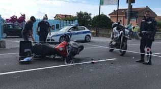 incidente auto moto Ceriale aurelia