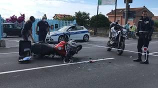 incidente auto moto Ceriale aurelia