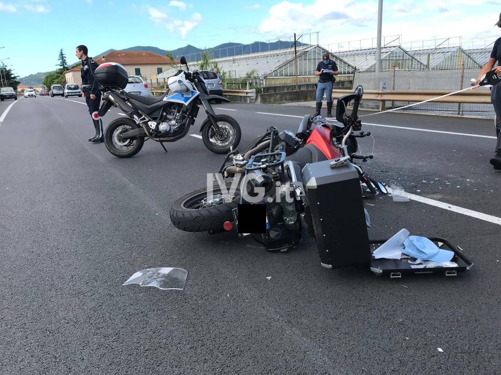incidente moto aurelia Ceriale