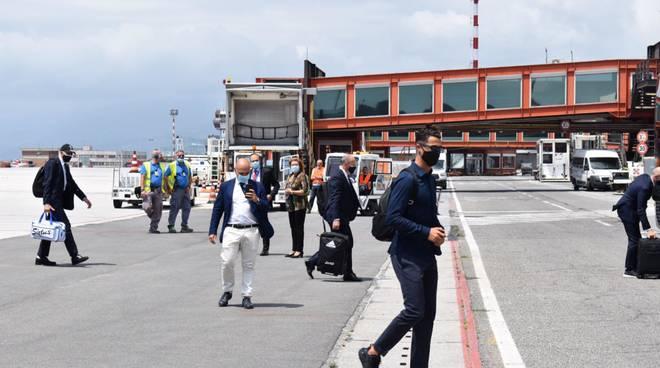 Juventus all'aeroporto