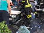 Loano, incidente sull'Aurelia
