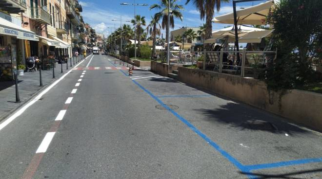 Loano nuova pista ciclabile centro storico