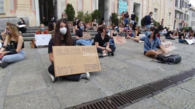 Manifestazione blacklivesmatter Genova