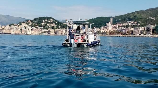 Operazione, mare pulito: il recupero dei rifiuti nel mare davanti a Genova