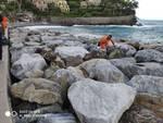 pulizia spiagge e scogliere recco