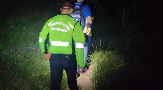 soccorso alpino notte ricerca persona