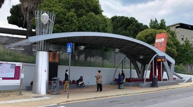 Stazione bus piazza Aldo moro savona