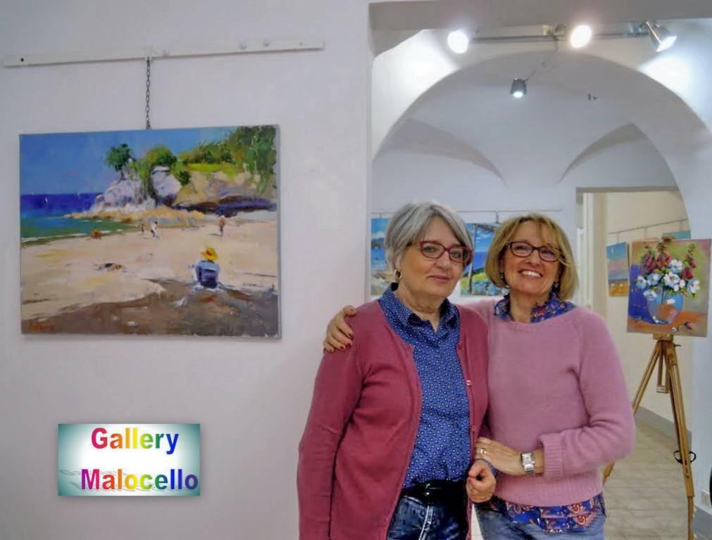 Varazze mostra pittrici Anna Maniero e Anna Maria Paveto Gallery Malocello