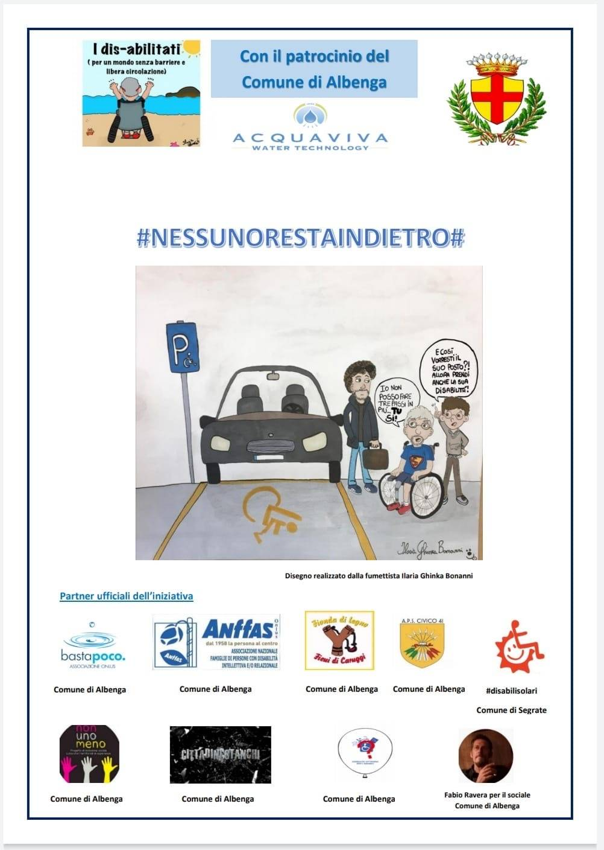 Albenga campagna parcheggi disabili gruppo I Dis-Abilitati