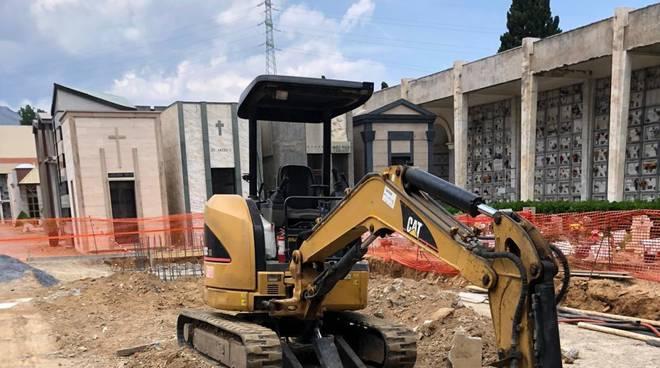 Albenga lavori ampliamento cimitero Leca