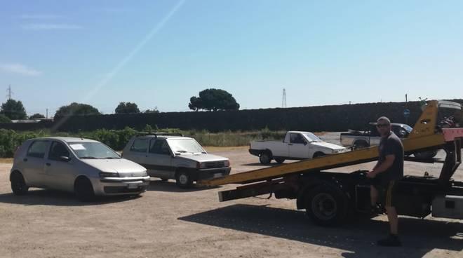 Albenga veicoli abbandonati Campochiesa e Lusignano
