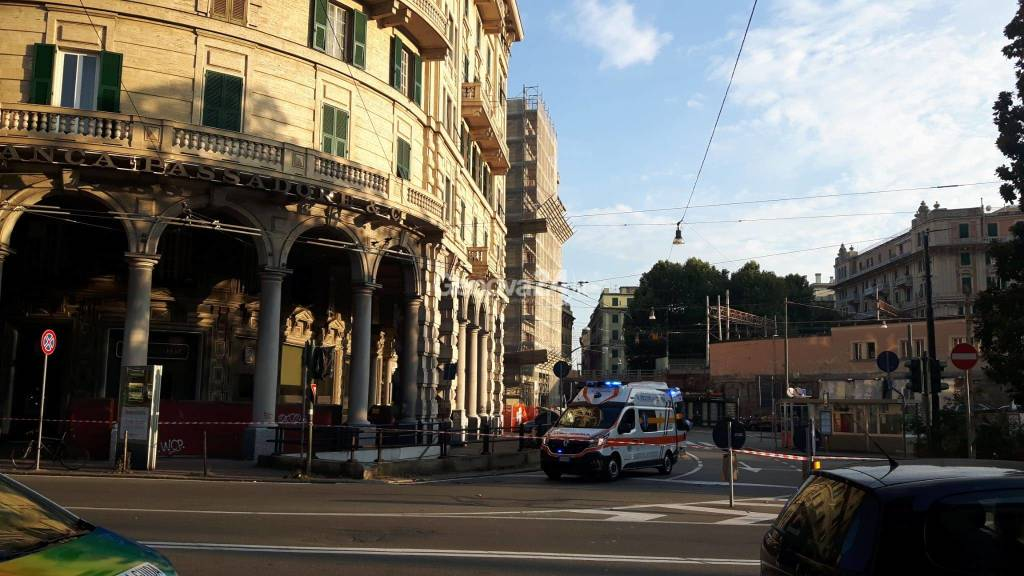 Allarme bomba a Sampierdarena