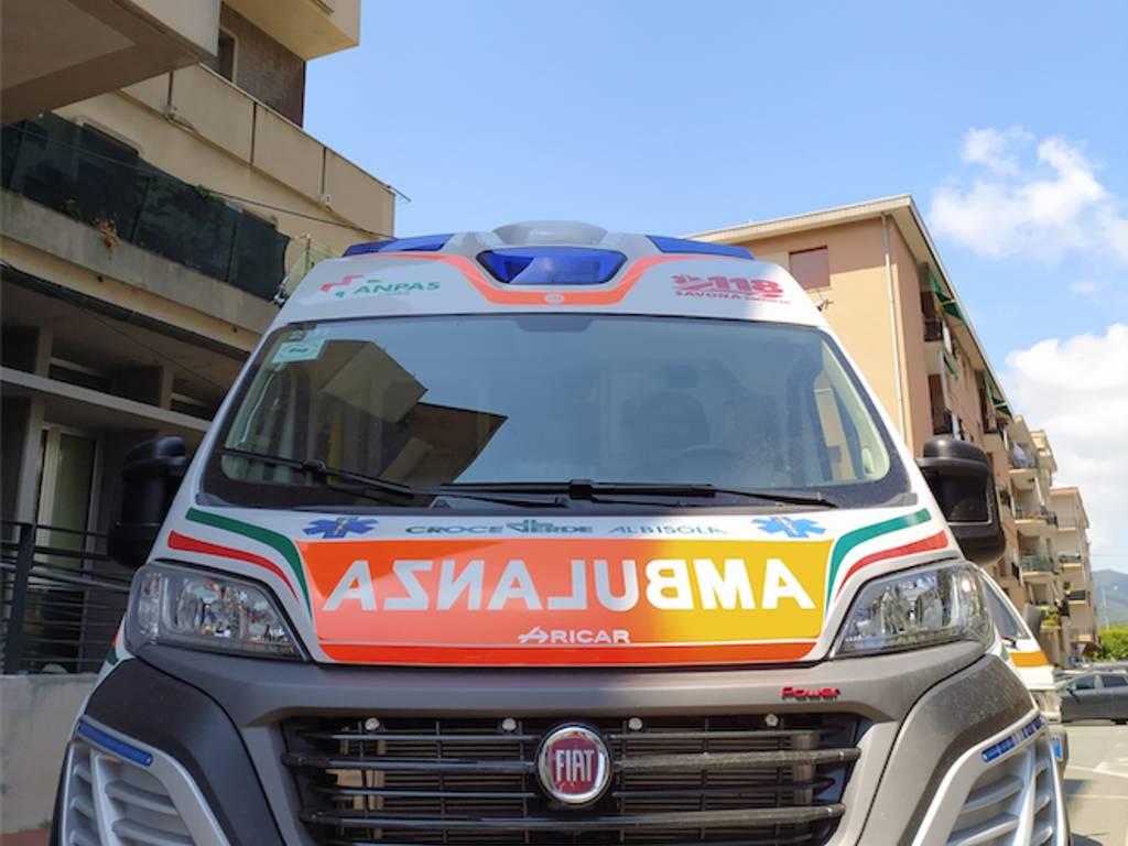 Ambulanza croce verde albisola