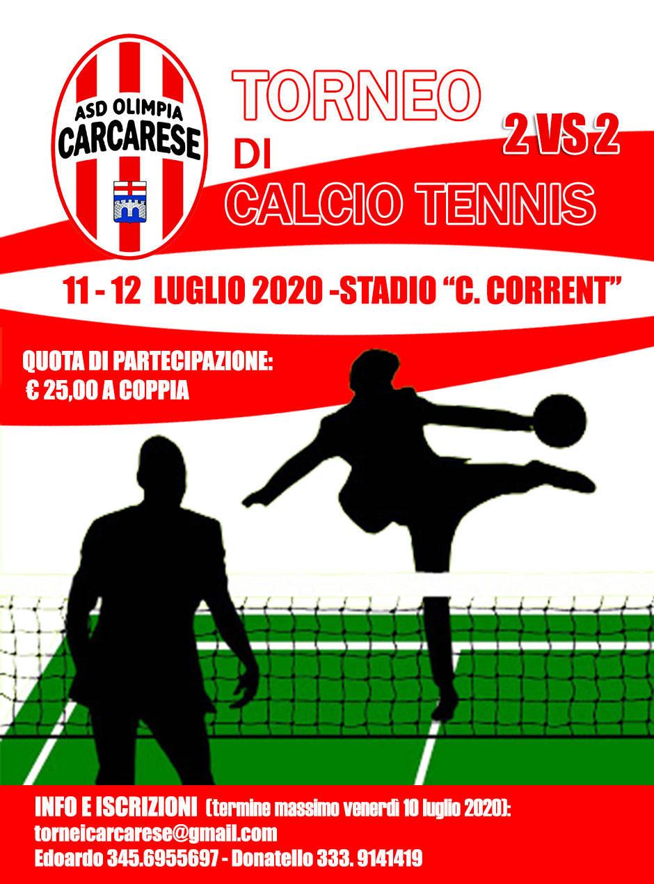 Candido Corrent per il 1° Torneo di Calcio Tennis