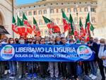 Caos autostrade manifestazione Roma Forza Italia Liguria