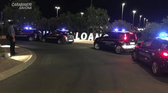 Carabinieri controlli notte Loano