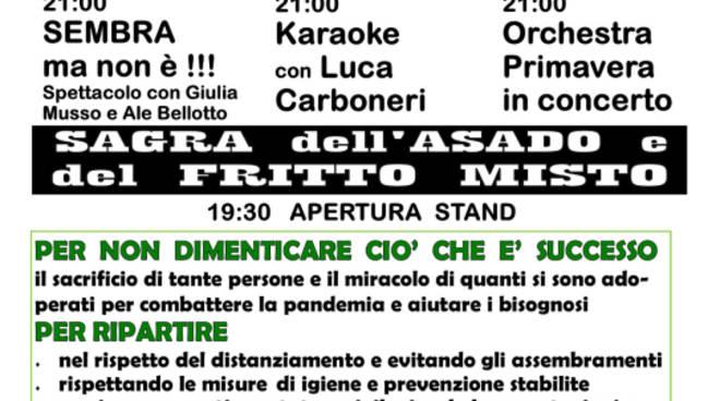Sagra dell\'asado e del fritto di pesce - Festa di Sant\'Anna 2020 Rapallo