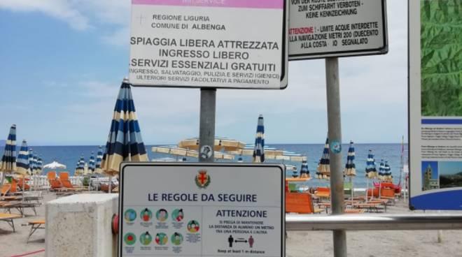 cartellonistica spiagge libere albenga