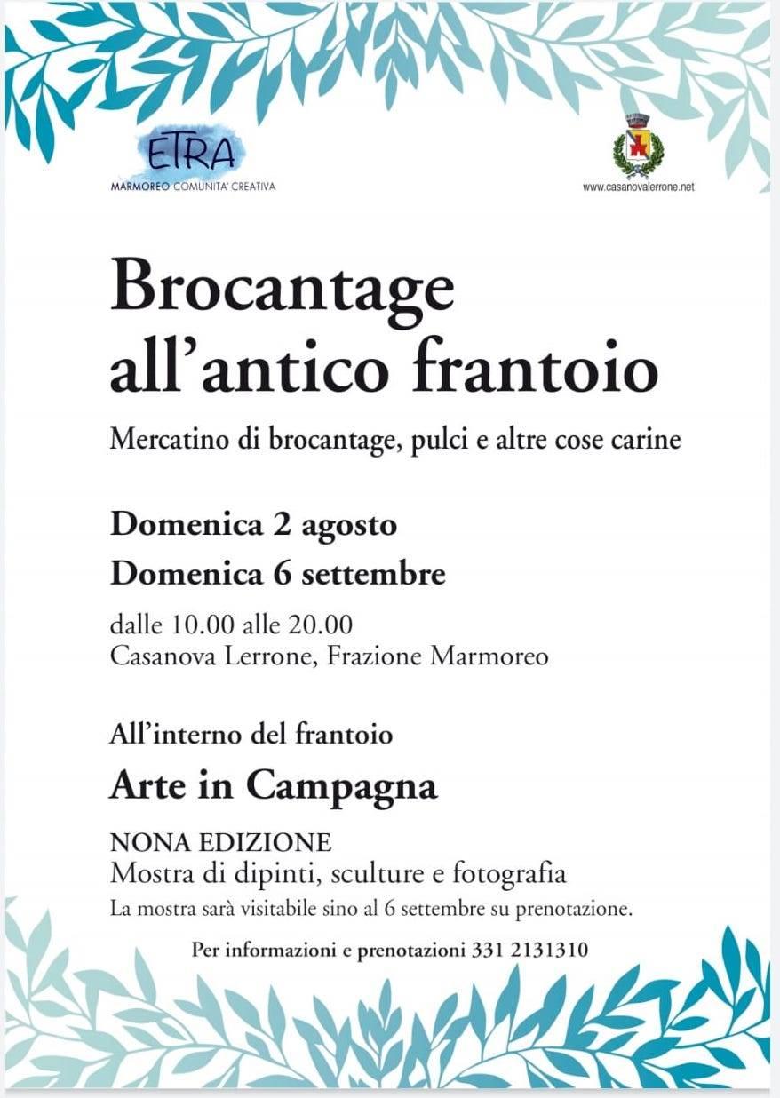 "Casanova Lerrone ""Brocantage all'antico Frantoio"" 2020 mercatino Marmoreo"