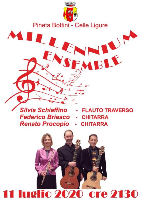 Celle Ligure concerto Millennium Ensemble pineta Bottini