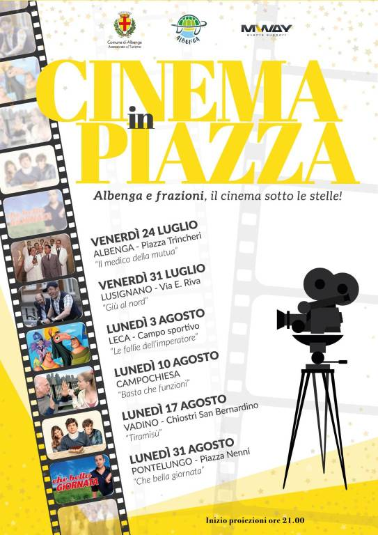 Cinema in piazza Albenga